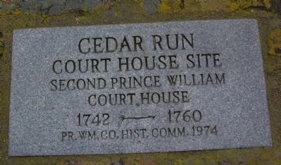 Cedar Run Court House Site Marker image. Click for full size.