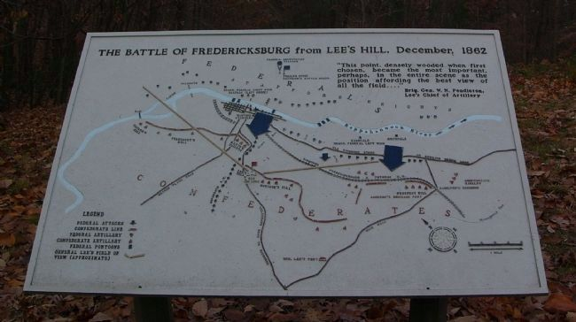 The Battle of Fredericksburg from Lee�s Hill, December, 1862 Photo, Click for full size