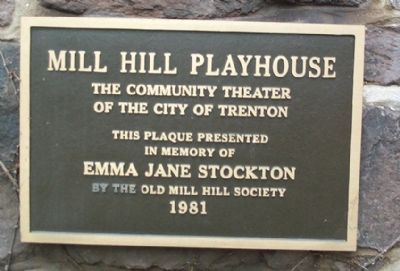 Mill Hill Playhouse Marker image. Click for full size.