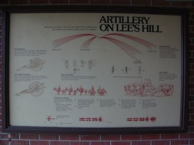 Artillery on Lee's Hill Marker image. Click for full size.