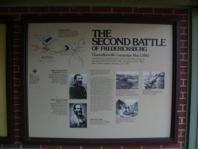 The Second Battle of Fredericksburg Marker image. Click for full size.