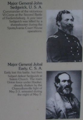 Opposing commanders at the Second Battle of Fredericksburg image. Click for full size.