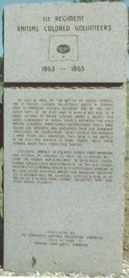 1st Kansas Volunteers Monument, Honey Springs Battlefield, Oklahoma image. Click for full size.