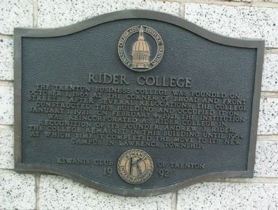 Rider College Marker image. Click for full size.