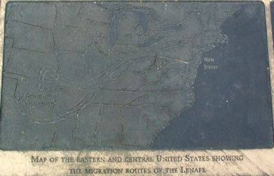 What happened to the Lenape? Marker image. Click for full size.