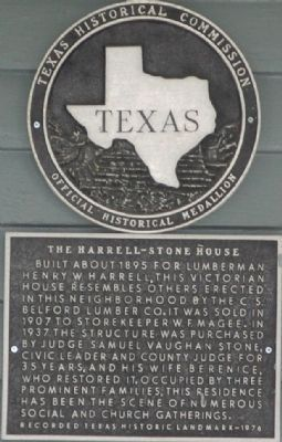 Harrell-Stone House Marker image. Click for full size.