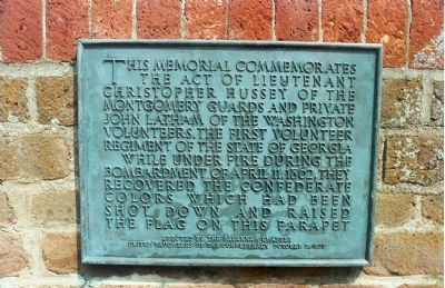This Memorial Commemorates The Act Of... Marker image. Click for full size.