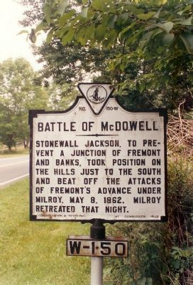Battle of McDowell Marker Photo, Click for full size