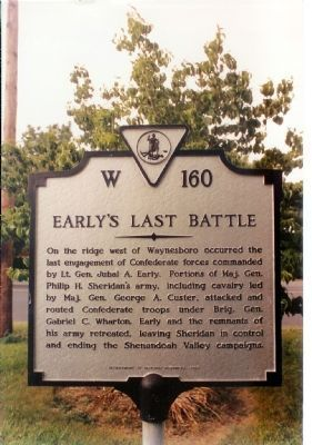 Early's Last Battle Marker image. Click for full size.