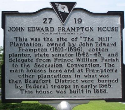 John Edward Framptom House Marker Photo, Click for full size