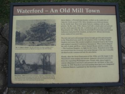 Waterford - An Old Mill Town Marker image. Click for full size.