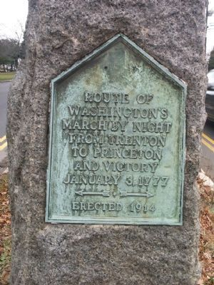 Route of Washington�s March Marker Photo, Click for full size