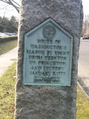 Route of Washington�s March Marker image. Click for full size.