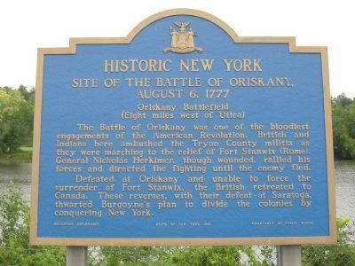 Historic New York - Site of The Battle of Oriskany image. Click for full size.