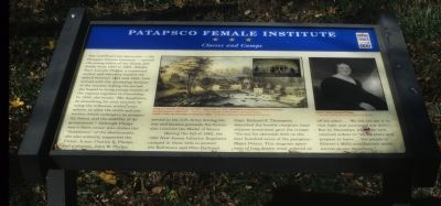 Patapsco Female Institute. Classes and Camps Marker image. Click for full size.