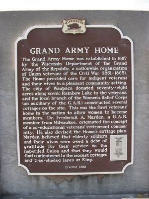 Grand Army Home Marker image. Click for full size.
