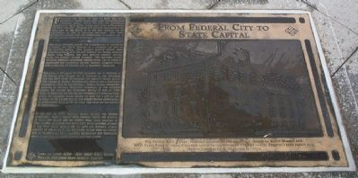 From Federal City to State Capital Marker image. Click for full size.
