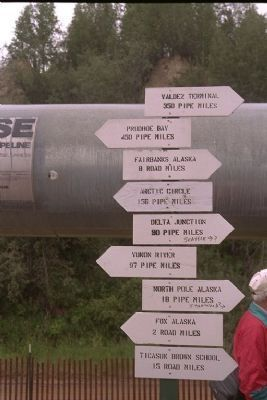 Pipeline Milepost near Fairbanks Photo, Click for full size