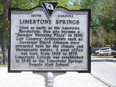 Limestone Springs Marker image. Click for full size.