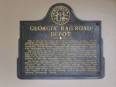 Georgia Railroad Freight Depot - Interior Marker Photo, Click for full size