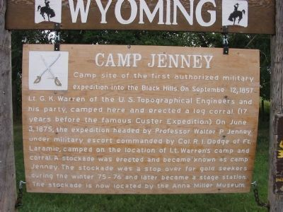 Camp Jenney Marker image. Click for full size.