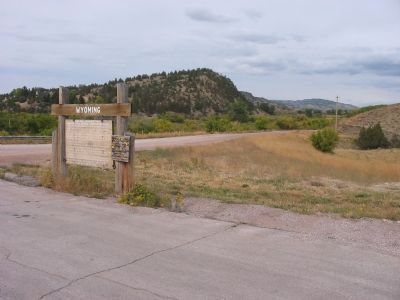 Cheyenne - Deadwood Trail Marker Photo, Click for full size