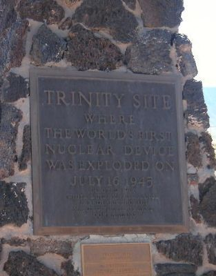 Trinity Site Marker image. Click for full size.