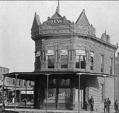 C. M. Condon and Company Bank, Coffeyville, Kansas image. Click for full size.