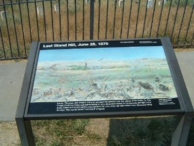 Last Stand Hill, June 25, 1876 image. Click for full size.