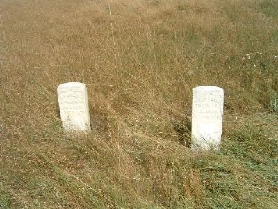 Markers Where 7th Cavalry Soldiers Fell image. Click for full size.
