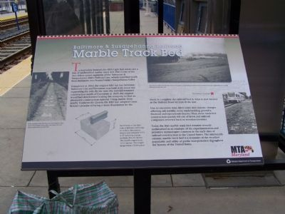 Second marker at station with more detailed explanation. Photo, Click for full size