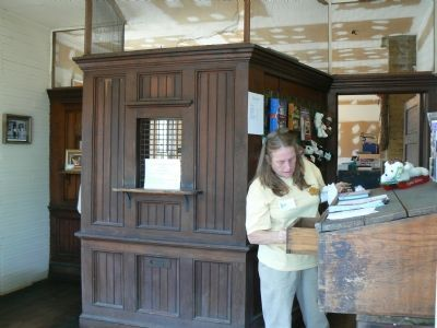 Old Post Office within E.E. Lake Store during 2007 Bluemont Fair image. Click for full size.