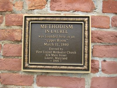 Methodism in Laurel Marker image. Click for full size.