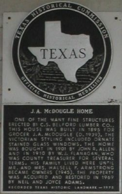 J. A. McDougle Home Marker image. Click for full size.