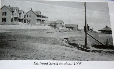The view down Railroad Street in about 1905. Photo, Click for full size