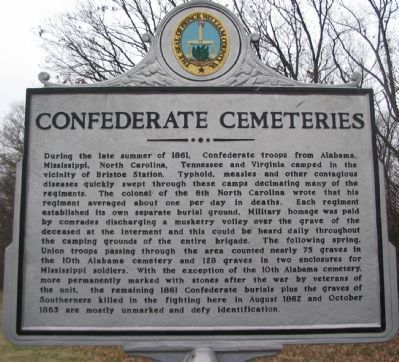 Confederate Cemeteries Marker image. Click for full size.