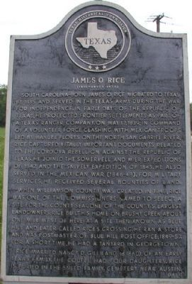 James O. Rice Marker image. Click for full size.