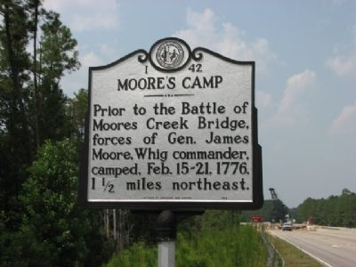 Moore's Camp Marker image. Click for full size.
