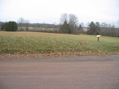 Across St. James Church Road from this marker a CWPT Trailhead image. Click for full size.