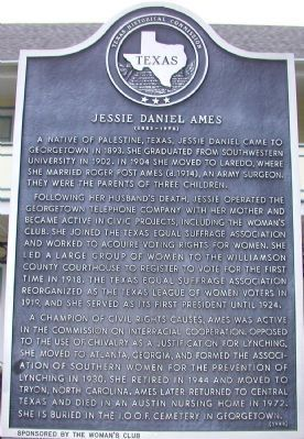 Jessie Daniel Ames Marker image. Click for full size.