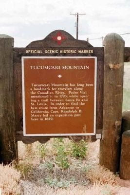 Tucumcari Mountain Marker Photo, Click for full size