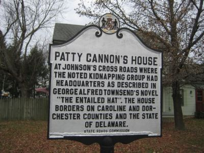 Patty Cannon's House Marker image. Click for full size.
