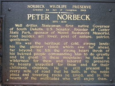 Peter Norbeck Marker image. Click for full size.