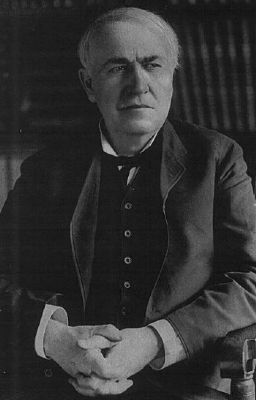 Thomas A. Edison (1847–1931) Photo, Click for full size