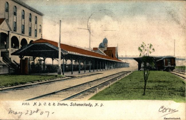 New York Central Railroad Schenectady Passenger Station Photo, Click for full size
