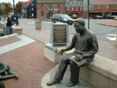 Memorial to Kunte Kinte-Alex Haley image. Click for full size.