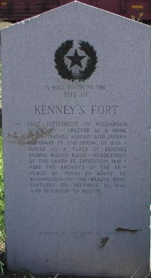 Kenney's Fort Marker image. Click for full size.