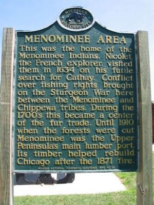 Menominee Area Marker image. Click for full size.