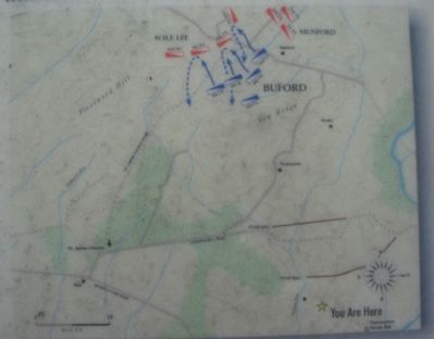 "Map of Gen ""Rooney"" Lee's Fighting Retreat Photo, Click for full size"