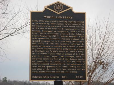 Woodland Ferry Marker Photo, Click for full size